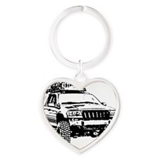 Jeep Grand Cherokee Expedition (WJ) Heart Keychain