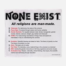 t-shirt-10X10-none-exist-explanation Throw Blanket