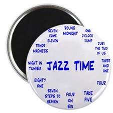 Real Jazz Clock Blue.gif Magnet