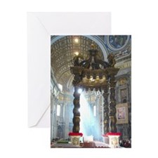 (half sheet) St Peters altar Greeting Card