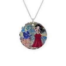 Blue Cat Series -  Loralai - Necklace Circle Charm