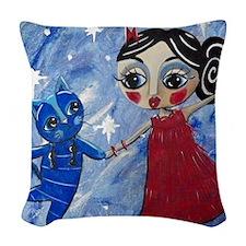 STAR POWER - LORALAI - Blue Ca Woven Throw Pillow