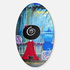 Blue Cat Series - Loralai - Bedtime Sticker (Oval)