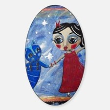 STAR POWER - LORALAI - Blue Cat Ser Sticker (Oval)
