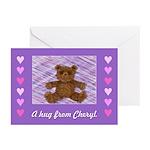 A hug from Cheryl         Pk of 10 Cards