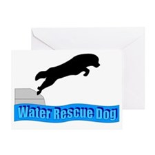 Water Rescue Dog Greeting Card