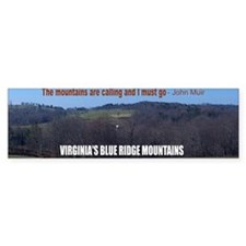 Blueridge Mountains Car Sticker