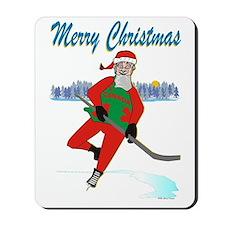 Hockey Santa Mousepad