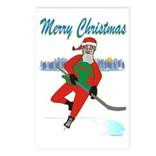 Hockey Santa Postcards (Package of 8)