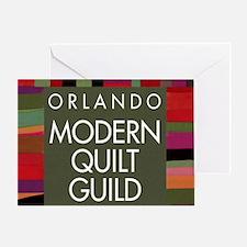 OMQGButtonLogo Greeting Card