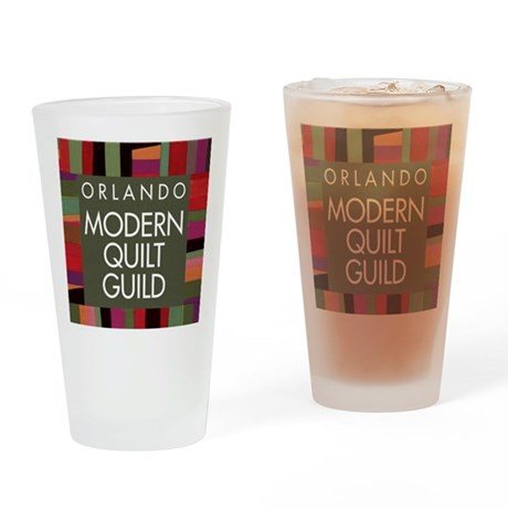 OMQGButtonLogo Drinking Glass