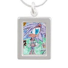 zoe Silver Portrait Necklace