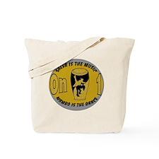 Oval SalMusOn1 GreyTan Tote Bag