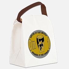 Oval SalMusOn1 GreyTan Canvas Lunch Bag