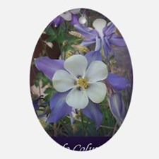 Columbines mp Oval Ornament