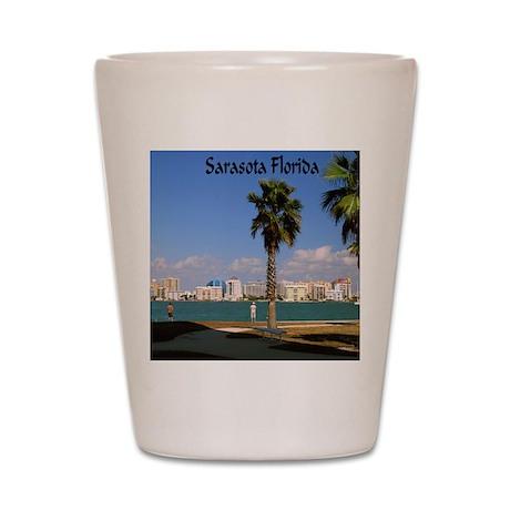 Palm Trees SarasotaFlorida8x6 Shot Glass