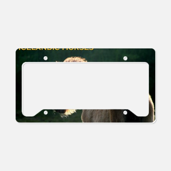 icehorsesbig License Plate Holder