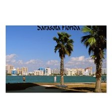 Palm Trees SarasotaFlorid Postcards (Package of 8)