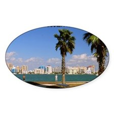 Palm Trees SarasotaFlorida14x10 Decal