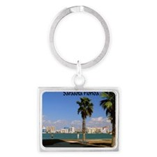 Palm Trees SarasotaFlorida14x10 Landscape Keychain