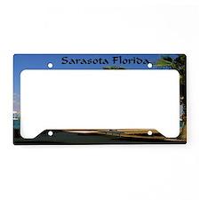 Palm Trees SarasotaFlorida14x License Plate Holder