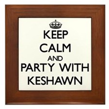 Keep Calm and Party with Keshawn Framed Tile