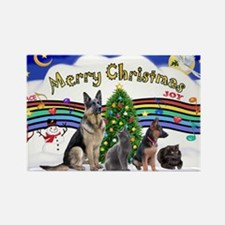 Xmas Music 1 - 2 dogs, 2 cats (Je Rectangle Magnet