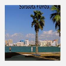 Palm Trees SarasotaFlorida9.5x8 Tile Coaster