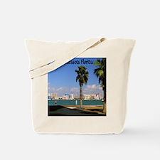 Palm Trees SarasotaFlorida9.5x8 Tote Bag