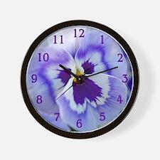 pansyclock1 Wall Clock