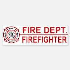 Fire Department Firefighter Bumper Bumper Bumper Sticker