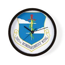 380th Bomb Wing - Blue Wall Clock