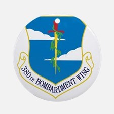 380th Bomb Wing - Blue Round Ornament