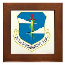 380th Bomb Wing - Blue Framed Tile