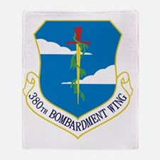 380th Bomb Wing - Blue Throw Blanket