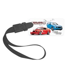 Mustang Burnout Trimmed Luggage Tag