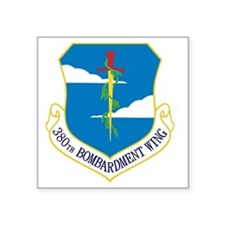 "380th Bomb Wing - Blue Square Sticker 3"" x 3"""