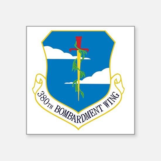 "380th Bomb Wing - Blue Square Sticker 3"" x 3"""