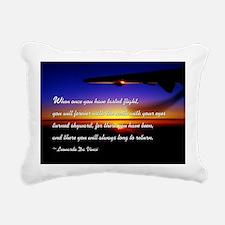 flyingDaVinci Rectangular Canvas Pillow