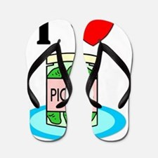 I Love Pickles Flip Flops