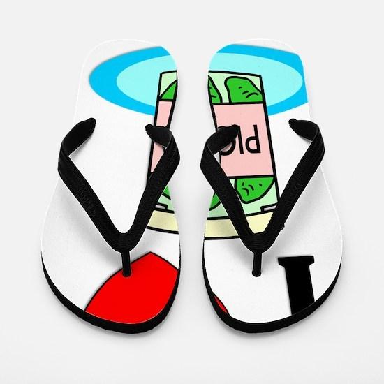 I Love Pickles Flip Flops
