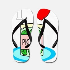 ilovepickles-drk Flip Flops