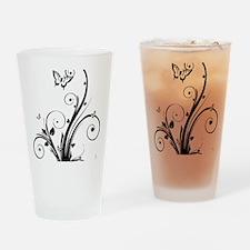 swirly butterflies Drinking Glass