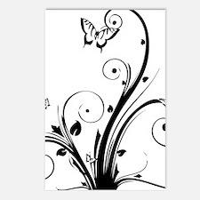 swirly butterflies Postcards (Package of 8)