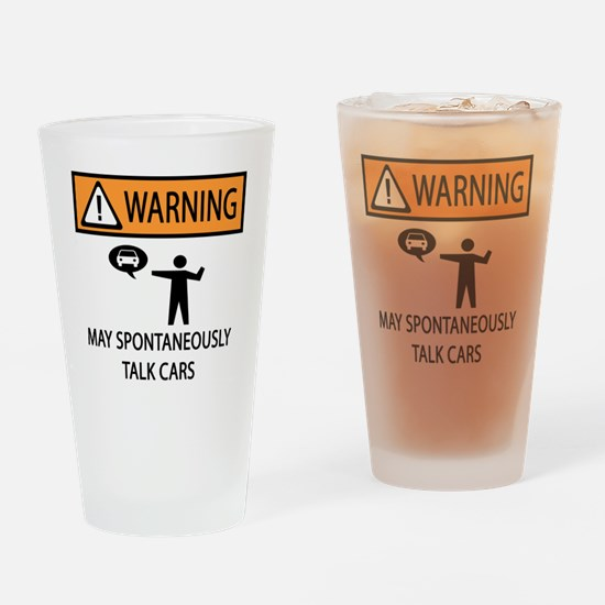 TALK CARS Drinking Glass