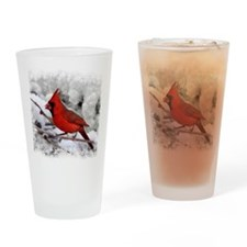 christmascardinal Drinking Glass
