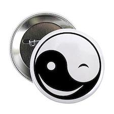 """Winky Yin Yang 2.25"""" Button"""