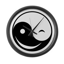 Winky Yin Yang Large Wall Clock