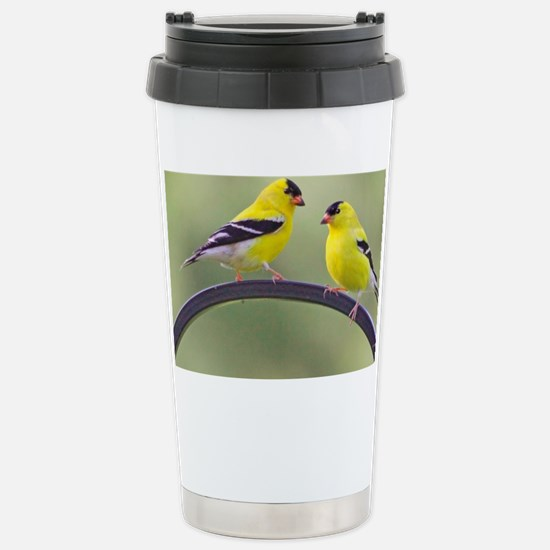 goldfinchposter Stainless Steel Travel Mug