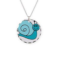 Blue Snail Necklace